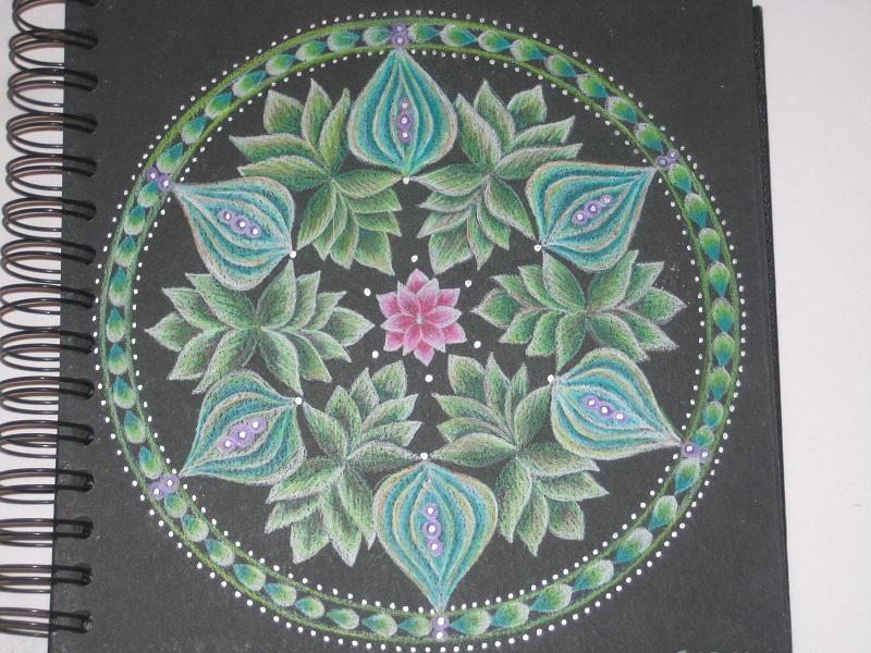 Mandala pink rose