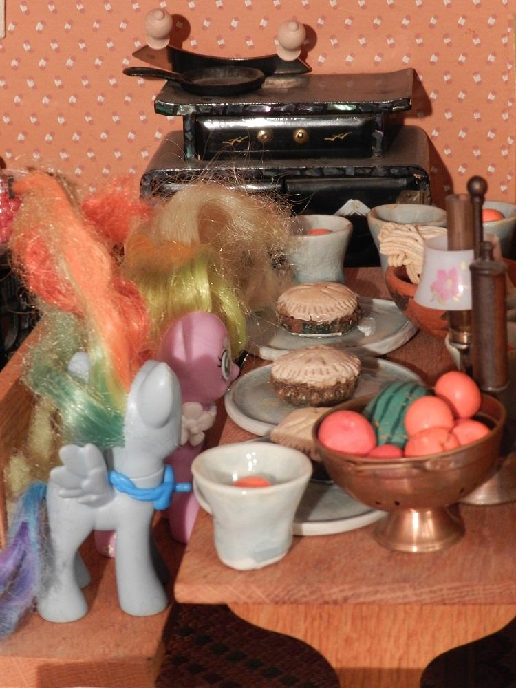 1000319-Ponies at breakfast